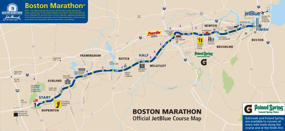 boston marathon route 2011. The Boston Marathon Course!